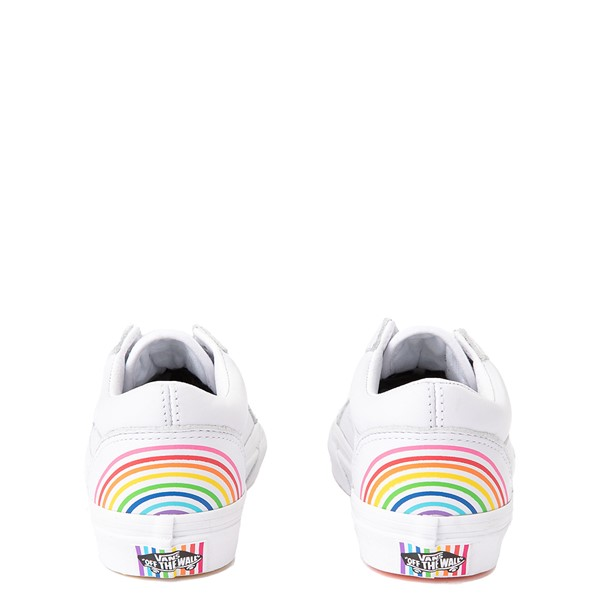 alternate view Vans x FLOUR SHOP Old Skool Rainbow Skate Shoe - Little Kid - WhiteALT2B