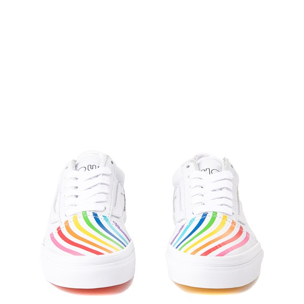 alternate view Vans x FLOUR SHOP Old Skool Rainbow Skate Shoe - Little Kid - WhiteALT4