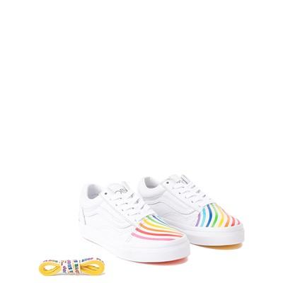 Alternate view of Vans x FLOUR SHOP Old Skool Rainbow Skate Shoe - Little Kid - White