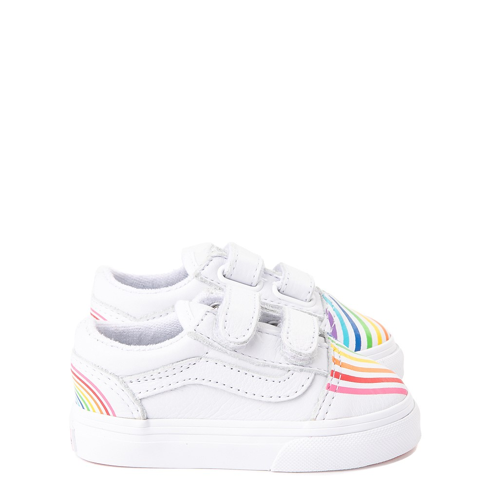 Vans x FLOUR SHOP Old Skool V Rainbow Skate Shoe - Baby / Toddler - White