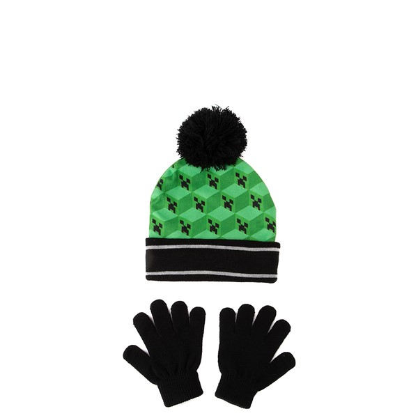 alternate view Minecraft Creeper Beanie - Little Kid - GreenALT1