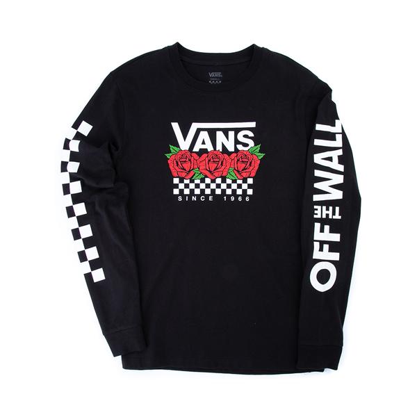 alternate view Womens Vans Rose Trio Long Sleeve Boyfriend Tee - BlackALT2