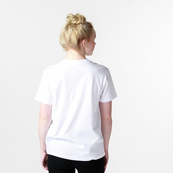 alternate view Womens Vans Box Logo Tee - White / Tie DyeALT1