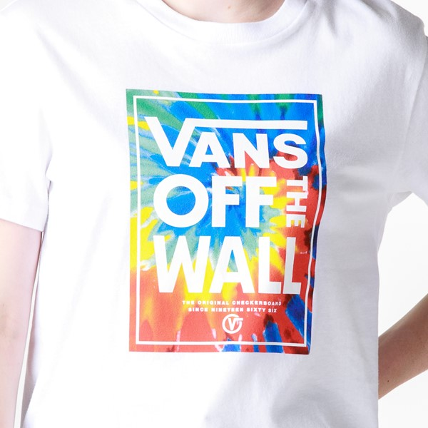 alternate view Womens Vans Box Logo Tee - White / Tie DyeALT2