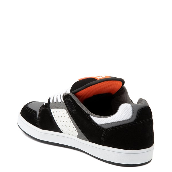 alternate view Mens etnies Rockfield Skate Shoe - Black / White / OrangeALT2