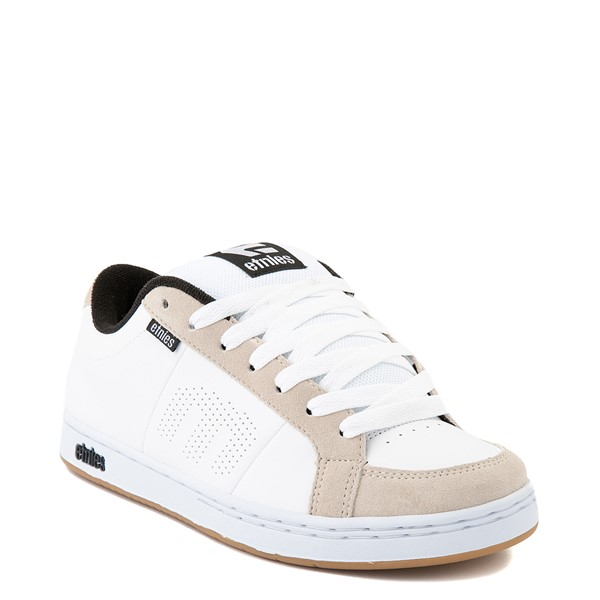 alternate view Mens etnies Kingpin Skate Shoe - White / GumALT1