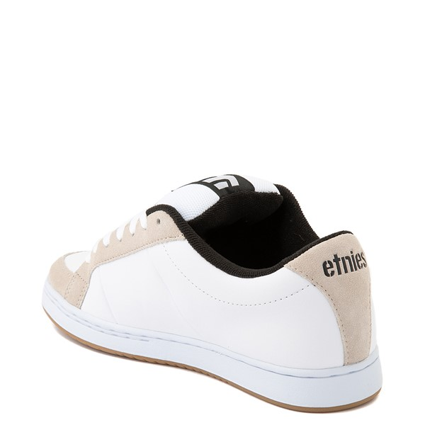alternate view Mens etnies Kingpin Skate Shoe - White / GumALT2