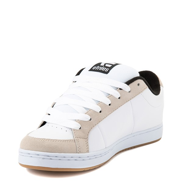 alternate view Mens etnies Kingpin Skate Shoe - White / GumALT3