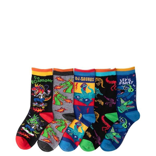 alternate view Dino Crew Socks 5 Pack - Toddler - MulticolorALT1