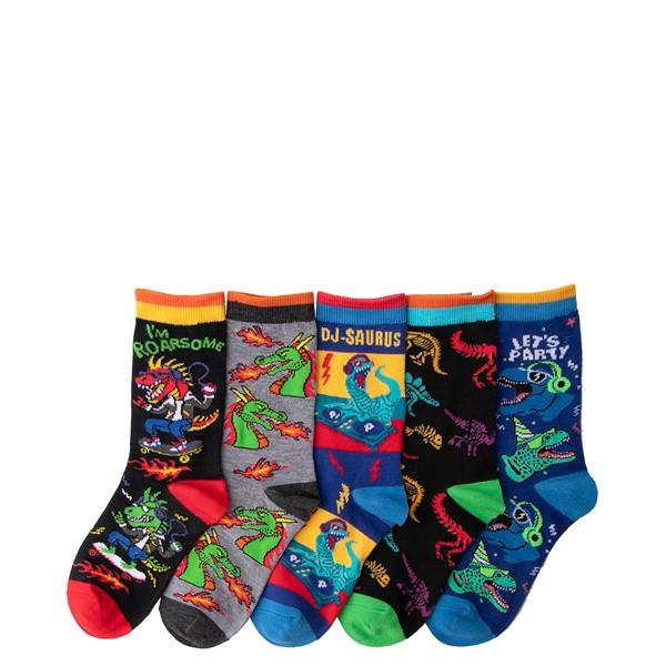 alternate view Dino Crew Socks 5 Pack - Little Kid - MulticolorALT1