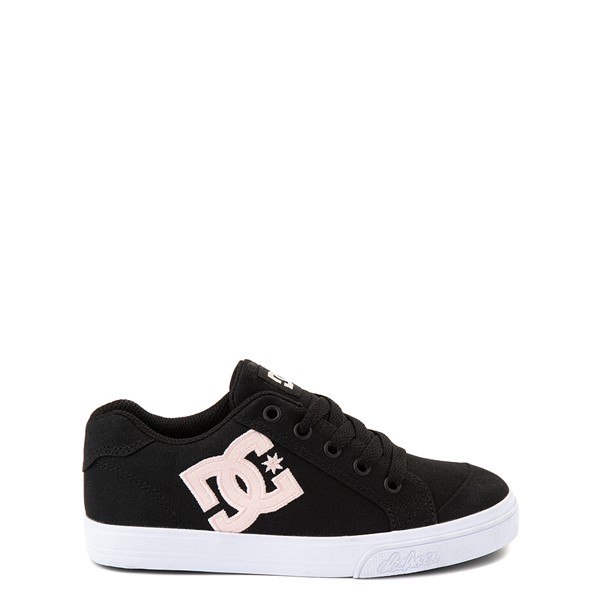 Main view of DC Chelsea TX Skate Shoe - Little Kid / Big Kid - Black / Pink