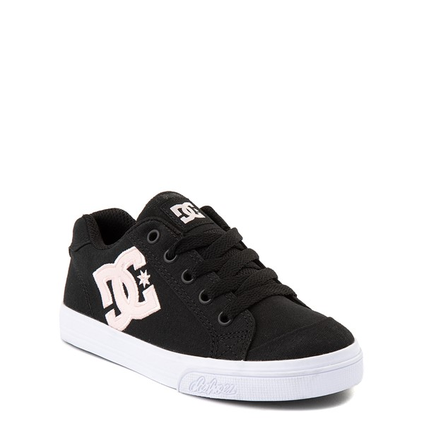 alternate view DC Chelsea TX Skate Shoe - Little Kid / Big Kid - Black / PinkALT