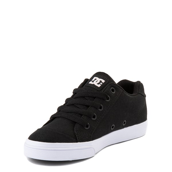 alternate view DC Chelsea TX Skate Shoe - Little Kid / Big Kid - Black / PinkALT3
