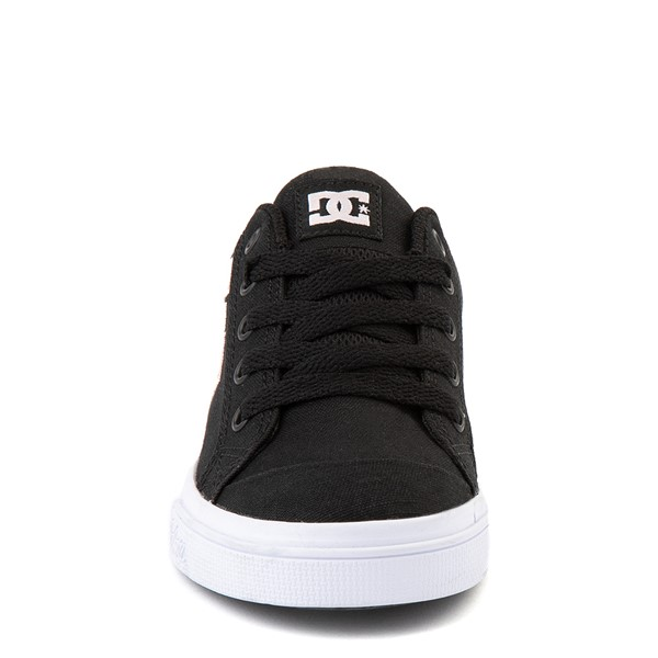 alternate view DC Chelsea TX Skate Shoe - Little Kid / Big Kid - Black / PinkALT4