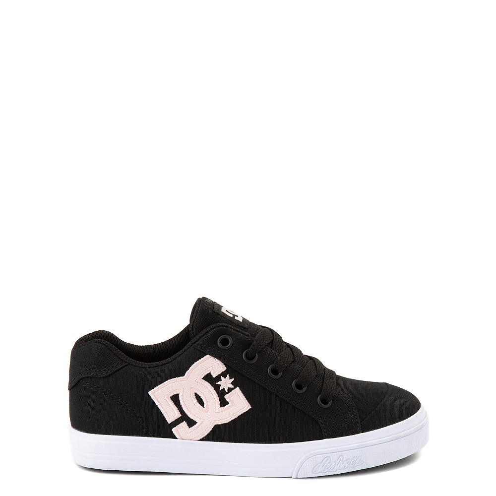 DC Chelsea TX Skate Shoe - Little Kid / Big Kid - Black / Pink