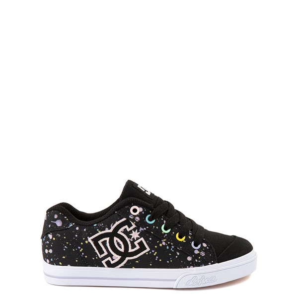 Main view of DC Chelsea TX Skate Shoe - Little Kid / Big Kid - Black / Splatter