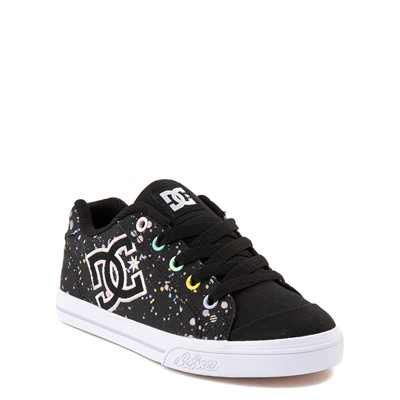 Alternate view of DC Chelsea TX Skate Shoe - Little Kid / Big Kid - Black / Splatter