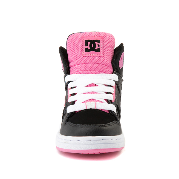 alternate view DC Pure Hi Skate Shoe - Little Kid / Big Kid - Black / PinkALT4