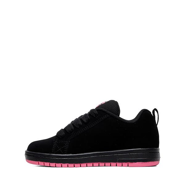 alternate view DC Court Graffik Skate Shoe - Little Kid / Big Kid - Black / PinkALT1