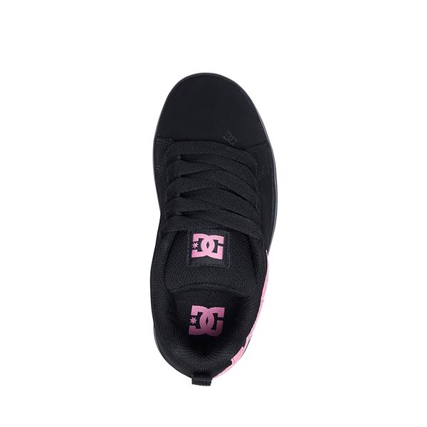 alternate view DC Court Graffik Skate Shoe - Little Kid / Big Kid - Black / PinkALT2
