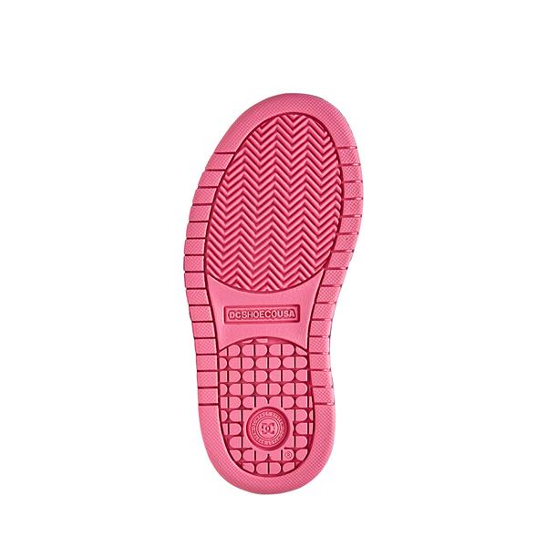 alternate view DC Court Graffik Skate Shoe - Little Kid / Big Kid - Black / PinkALT3