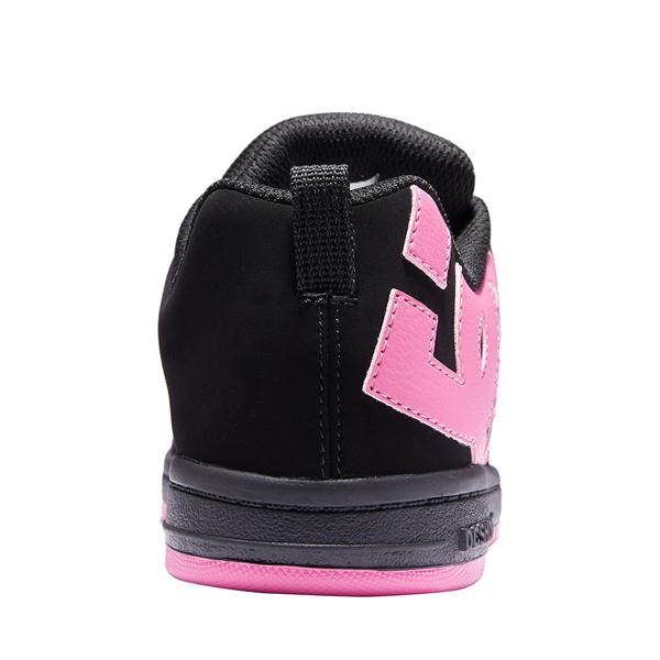 alternate view DC Court Graffik Skate Shoe - Little Kid / Big Kid - Black / PinkALT4