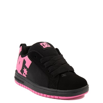Alternate view of DC Court Graffik Skate Shoe - Little Kid / Big Kid - Black / Pink