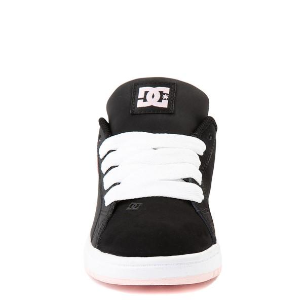 alternate view DC Court Graffik Skate Shoe - Little Kid / Big Kid - Black / Light PinkALT4