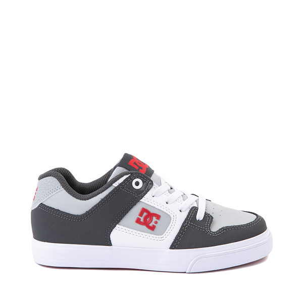 DC Pure Elastic Skate Shoe - Little Kid / Big Kid - Gray