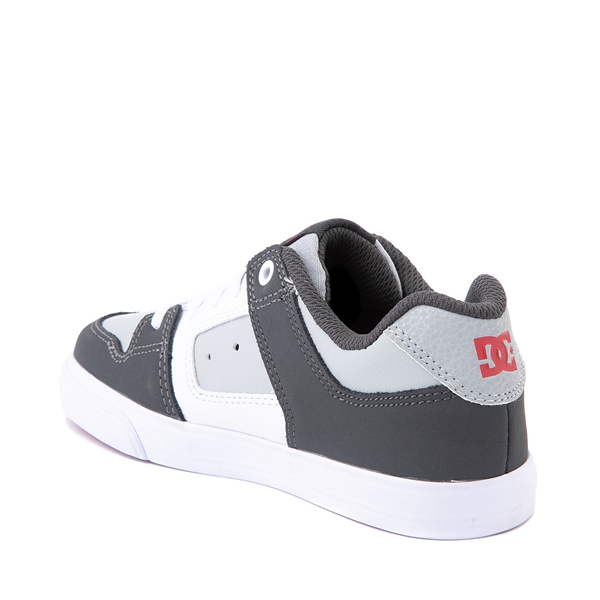 alternate view DC Pure Elastic Skate Shoe - Little Kid / Big Kid - GrayALT1