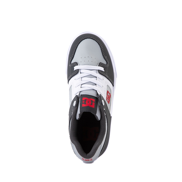 alternate view DC Pure Elastic Skate Shoe - Little Kid / Big Kid - GrayALT2