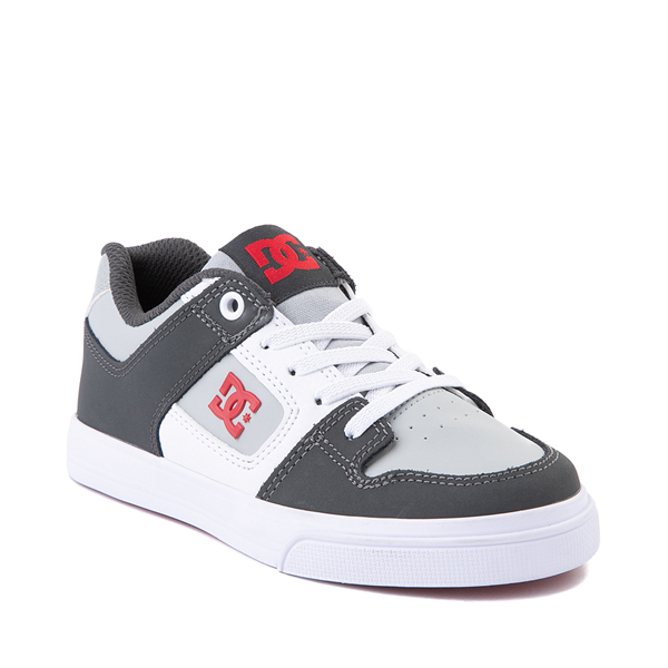 alternate view DC Pure Elastic Skate Shoe - Little Kid / Big Kid - GrayALT5