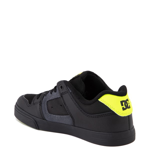 alternate view DC Pure Elastic Skate Shoe - Little Kid / Big Kid - Black / VoltALT2