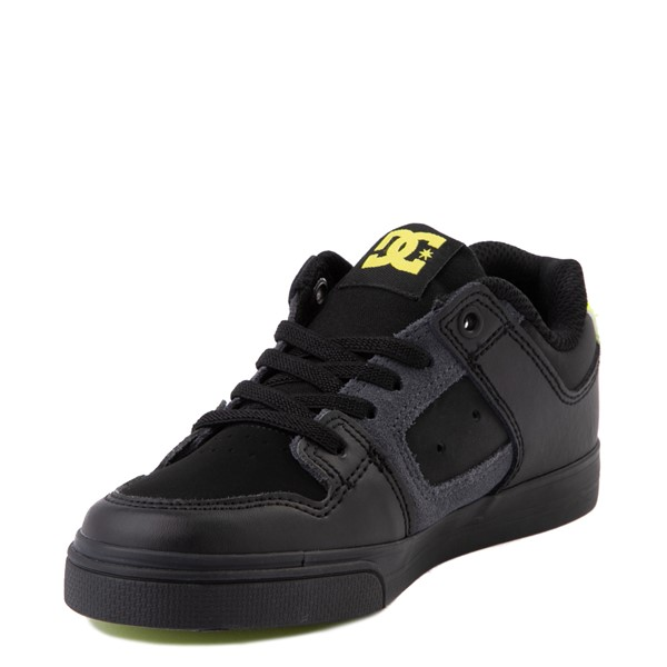 alternate view DC Pure Elastic Skate Shoe - Little Kid / Big Kid - Black / VoltALT3