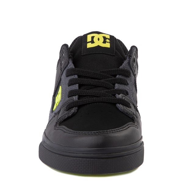 alternate view DC Pure Elastic Skate Shoe - Little Kid / Big Kid - Black / VoltALT4