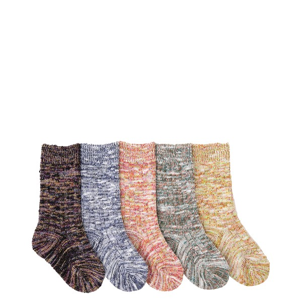 Marled Crew Socks 5 Pack - Toddler - Multicolor