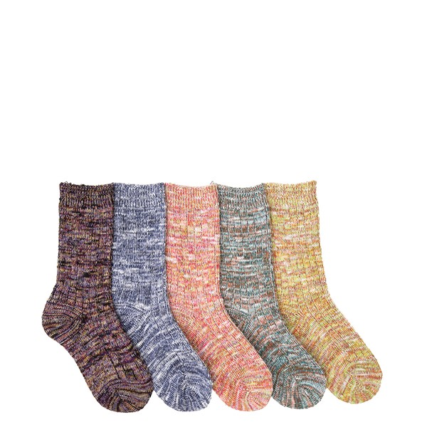 Marled Crew Socks 5 Pack - Little Kid - Multicolor