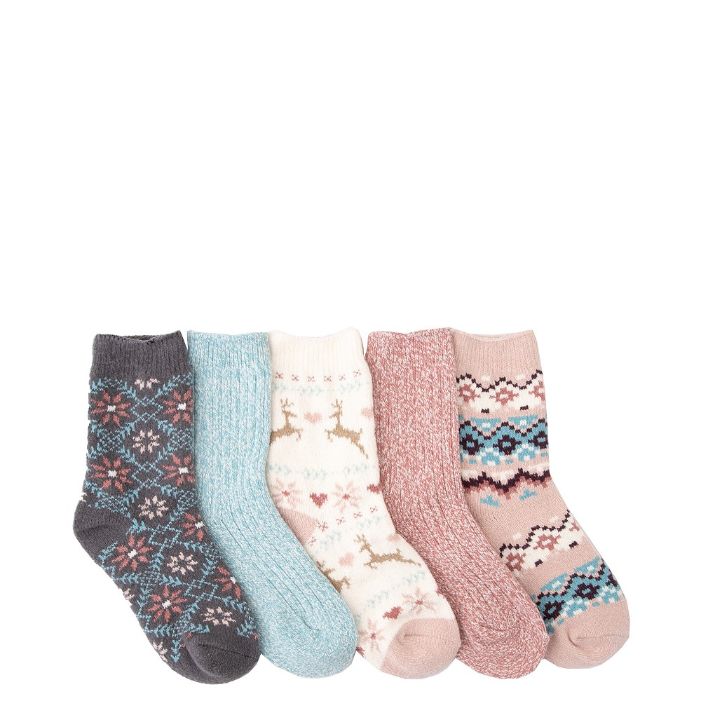 Winter Crew Socks 5 Pack - Little Kid - Multicolor