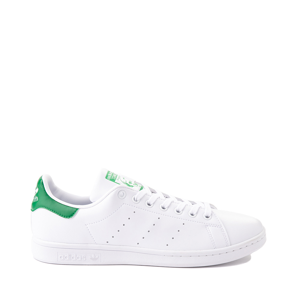 Mens adidas Stan Smith Athletic Shoe - White / Fairway Green