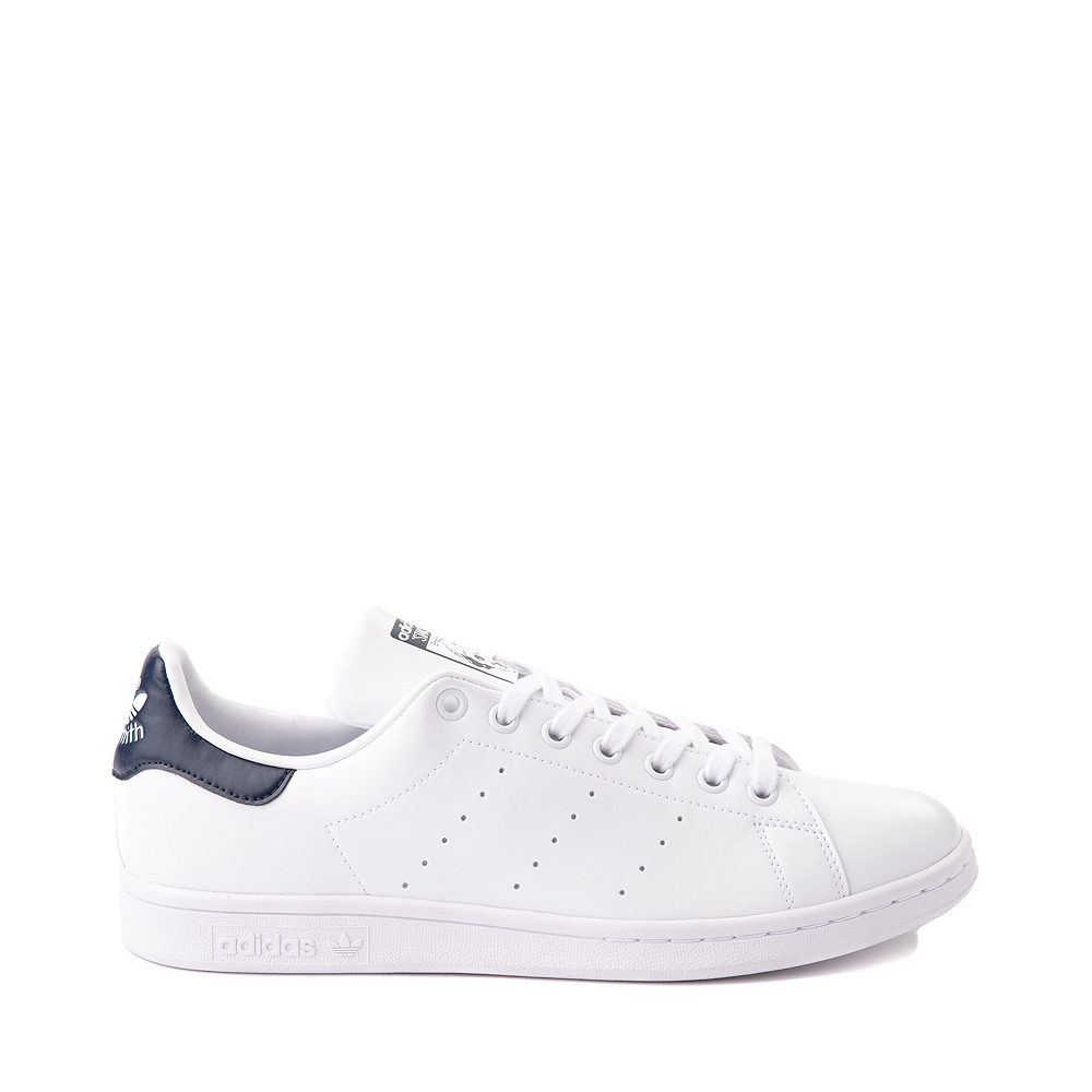 Mens adidas Stan Smith Athletic Shoe - White / Navy