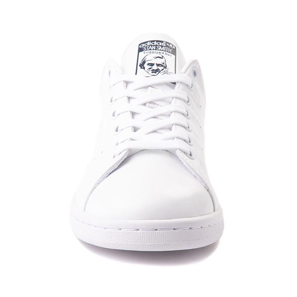 alternate view Womens adidas Stan Smith Athletic Shoe - White / NavyALT4