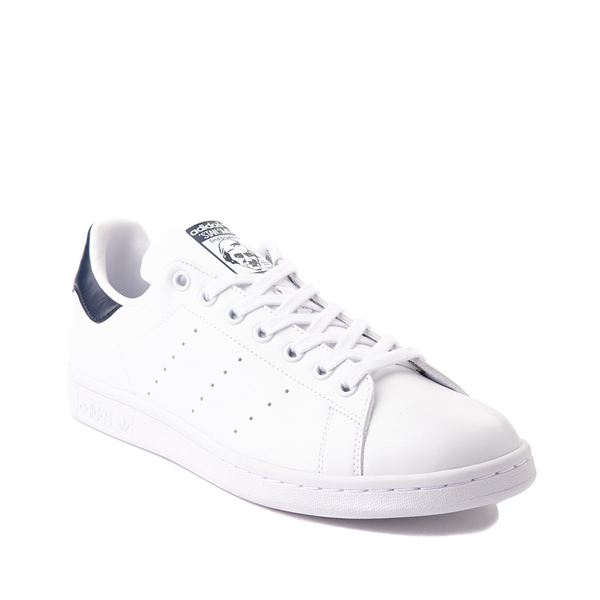 alternate view Womens adidas Stan Smith Athletic Shoe - White / NavyALT5