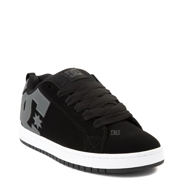 alternate view Mens DC Court Graffik Skate Shoe - Black / GrayALT1
