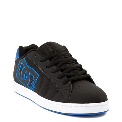 Alternate view of Mens DC Net Skate Shoe - Black / Royal Blue