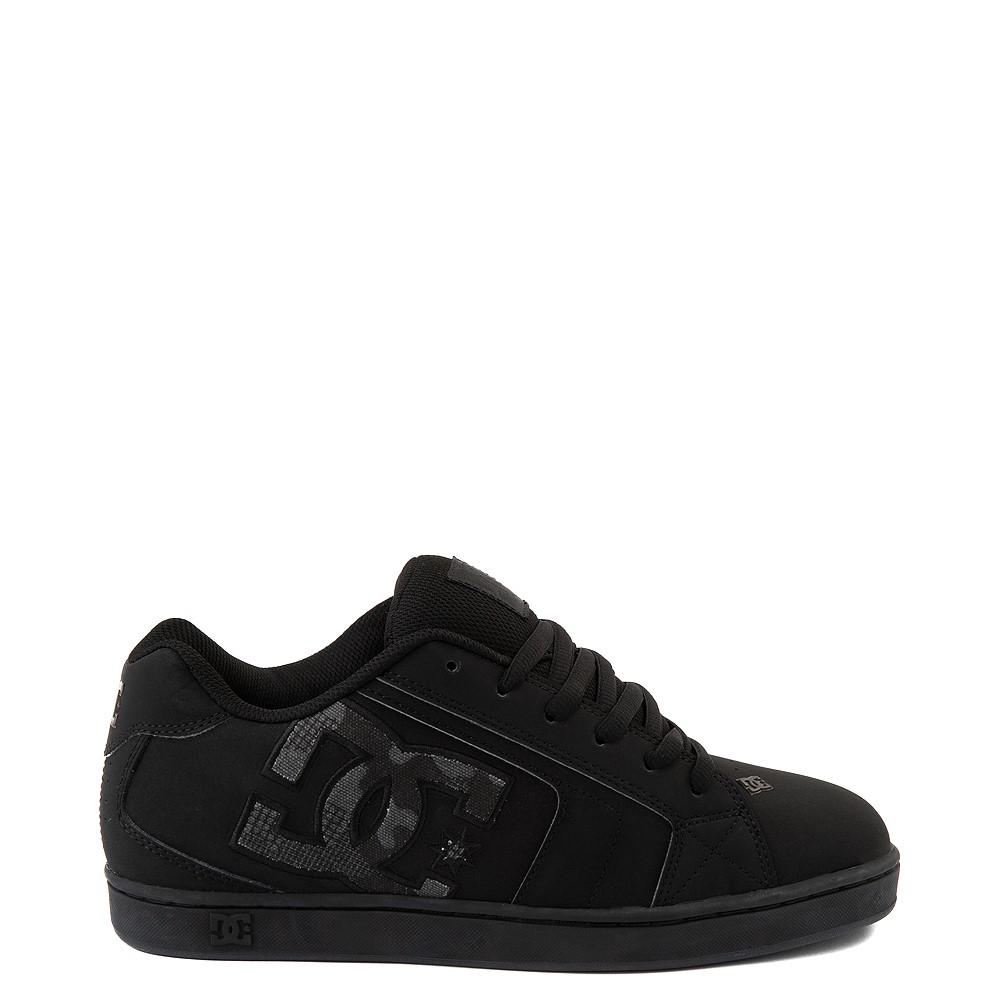 Mens DC Net Skate Shoe - Black / Camo Stencil