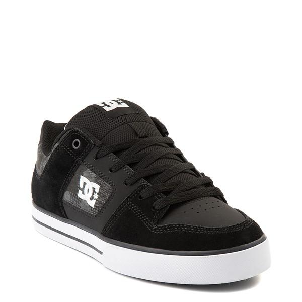 alternate view Mens DC Pure Skate Shoe - Black / Gray CamoALT1