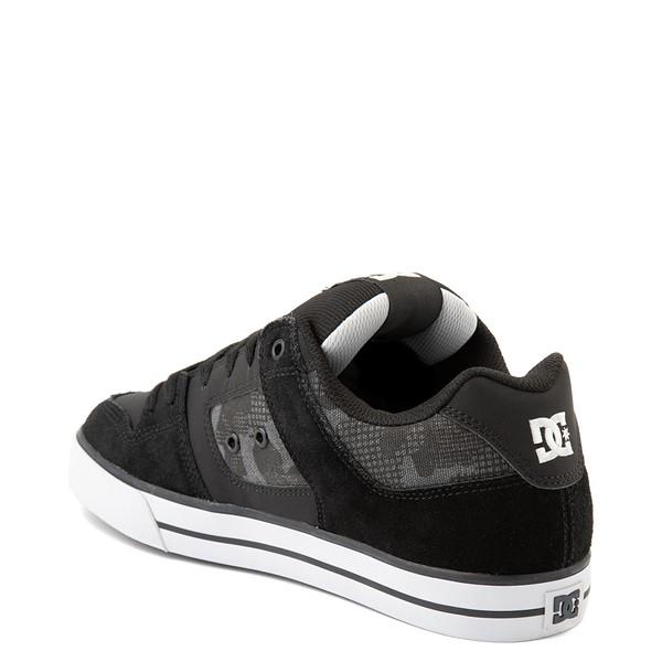 alternate view Mens DC Pure Skate Shoe - Black / Gray CamoALT2