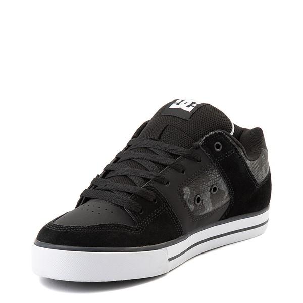 alternate view Mens DC Pure Skate Shoe - Black / Gray CamoALT3