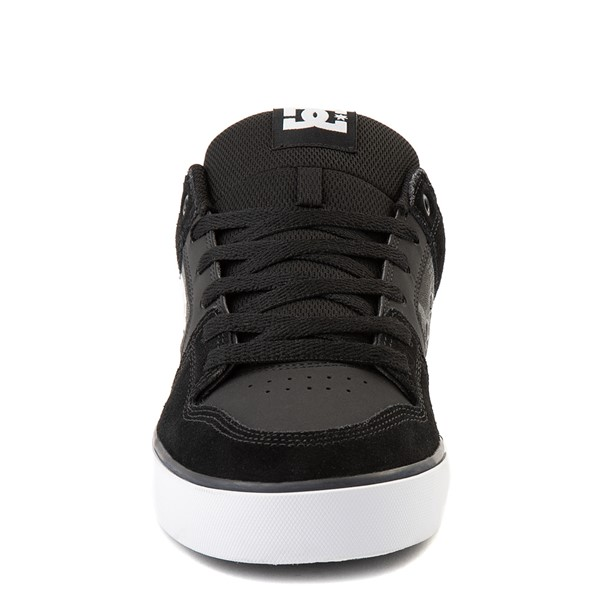 alternate view Mens DC Pure Skate Shoe - Black / Gray CamoALT4