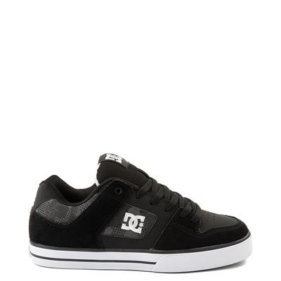 Main view of Mens DC Pure Skate Shoe - Black / Gray Camo